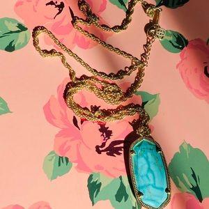 "✨Kendra Scott Gold & Turquoise ""Reid"" Necklace ✨"